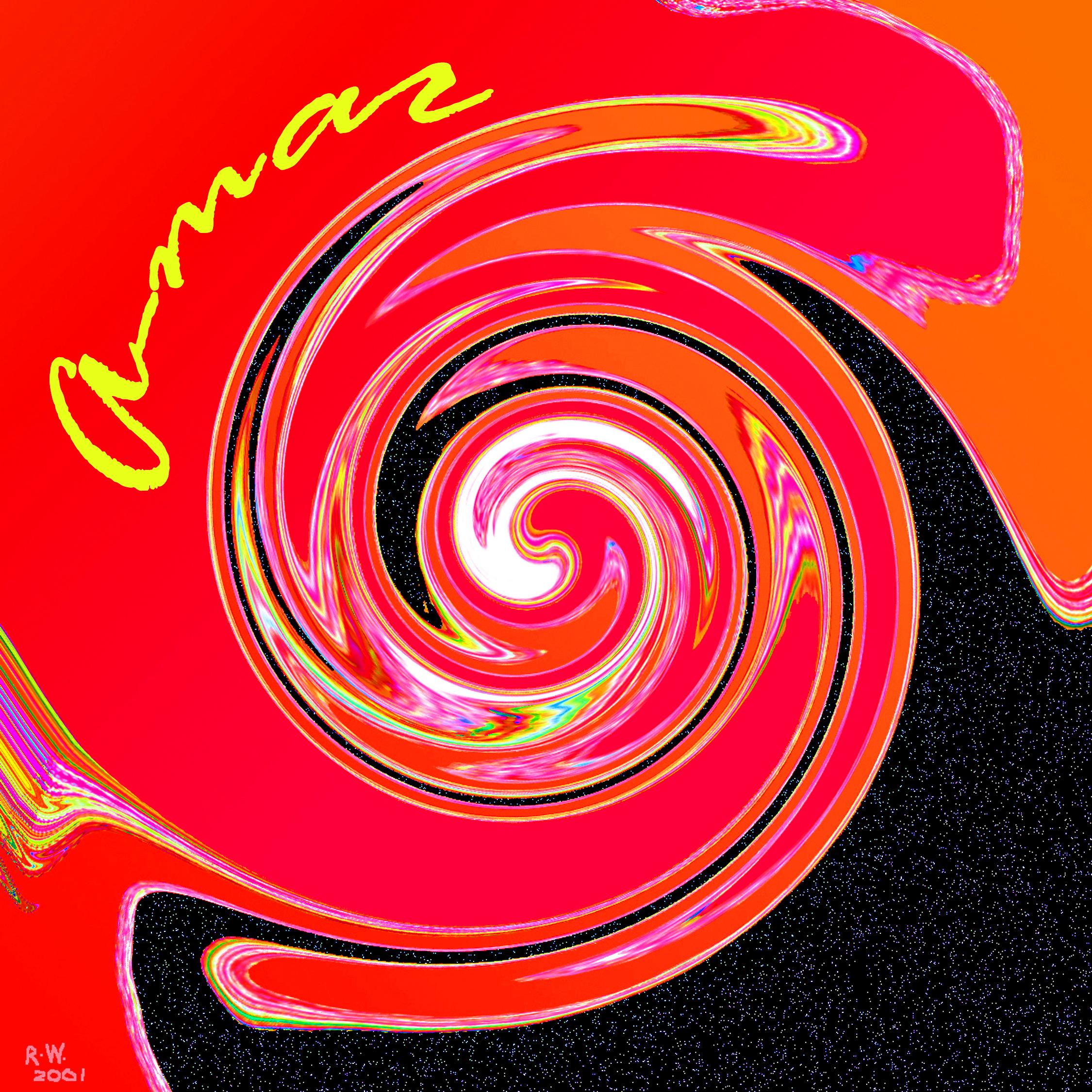 Black on Red Mandala groot 2 met naam